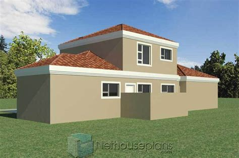 bedroom double storey south african house plans