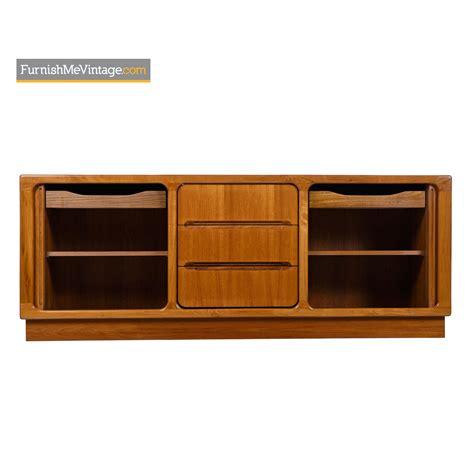 media credenza furniture teak tambour media cabinet credenza modern