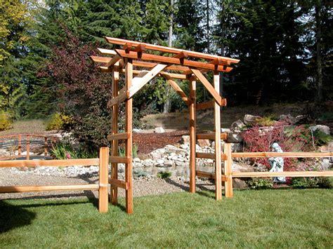 Garden Arch Calgary Cedar Split Rail Fencing Acreage And Farm Fencing