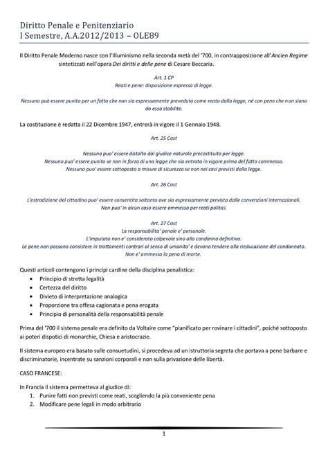 dispensa diritto penale diritto penale e penitenziario appunti