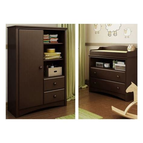 armoire changing table angel changing table and armoire with drawers 3559c2 south