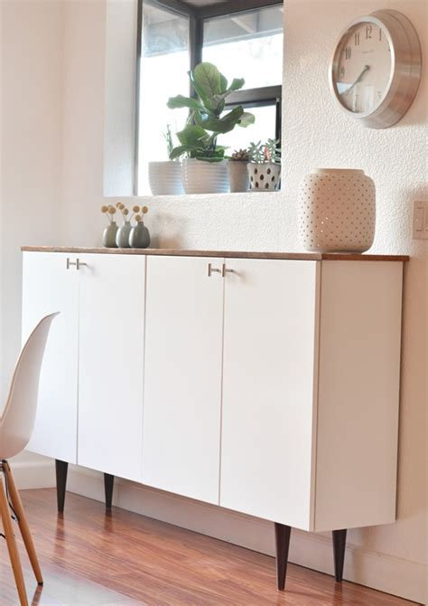 ikea besta legs hack ikea hack credenza uses upper kitchen cabinets wood