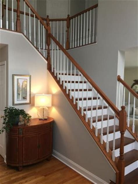 foyer staircase benjamin and paint colors on
