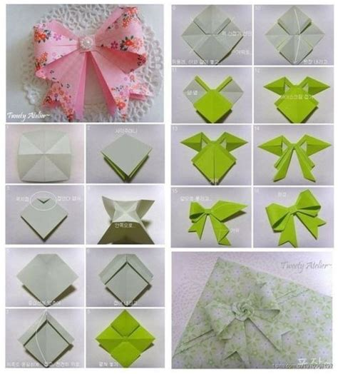 How To Make A Origami Crossbow - 25 best ideas about origami bow on diy