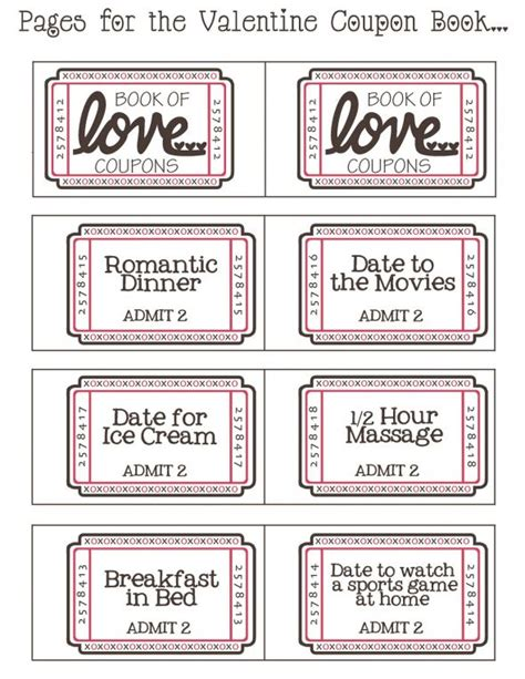 valentines coupon free downloadable coupon booklet weddingbee