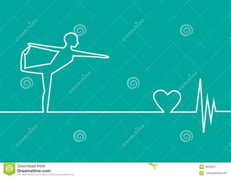 yoga exercise  ekg heart  green background design