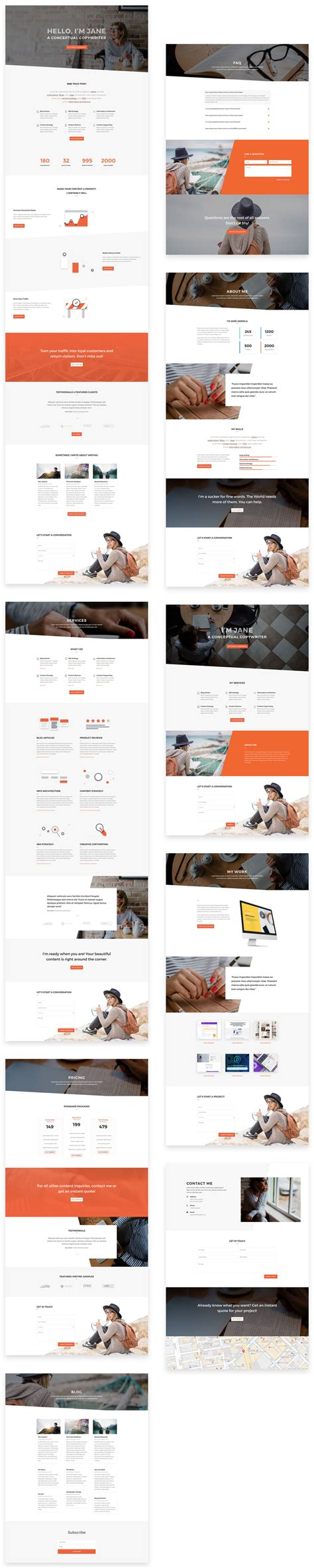download layout divi download a free appealing copywriter layout pack for