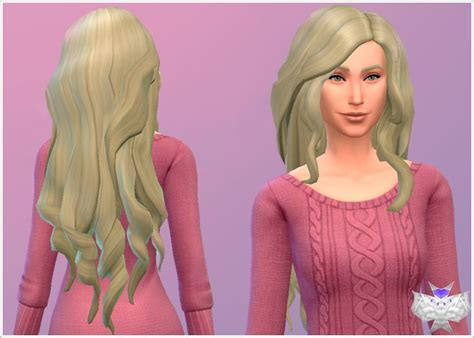 sims 4 long wavy hair without bangs 69 besten sims 4 cc hair bilder auf pinterest frisuren