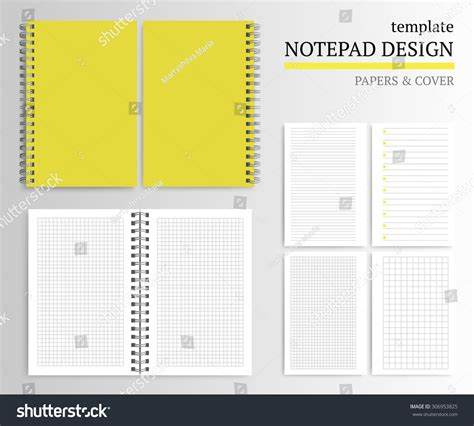 notepad design template template notepad design cover papers stock vector