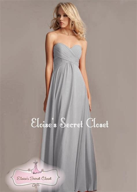 Dress Elsa Grey bnwt elsa silver grey chiffon prom bridesmaid occasion maxi dress uk size 6 18