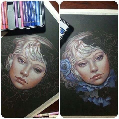 sketchbook with colored paper beautiful sketch drawing colored pencils realistic