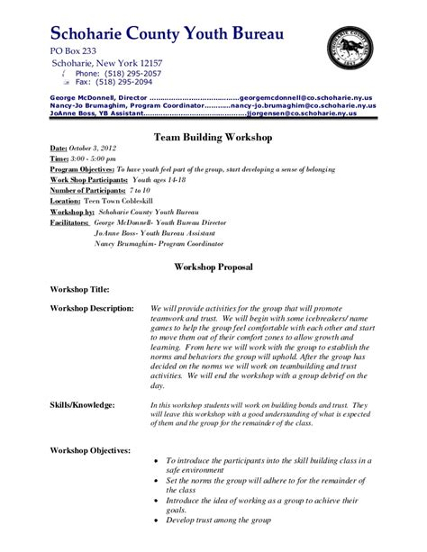Life Skills Class Team Building Proposal Team Building Email Template