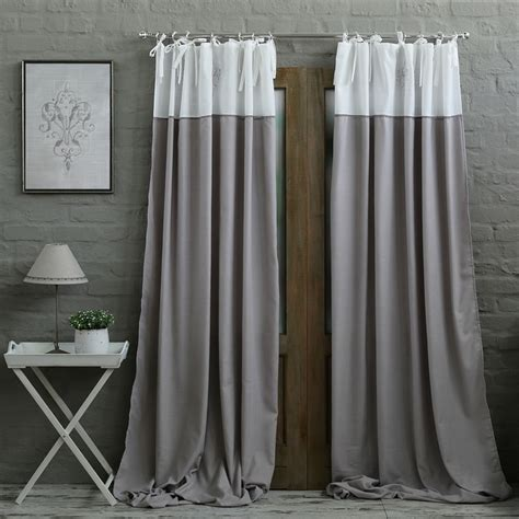 curtains online shopping south africa grey white embroidery eyelet curtain biggie best home