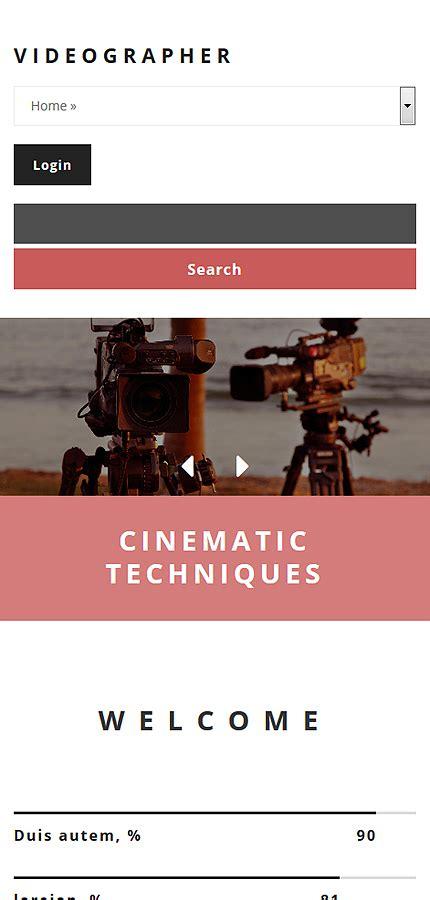 Videographer Drupal Template Website Templates Best Website Templates For Videographers