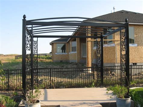 Steel Frame Pergola by Custom Steel Pergola Patio Other By Ironesque Inc