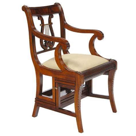 Library Chair by Mahogany Library Chair Niagara Furniture Lyre Back Chair