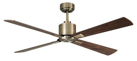 ceiling fans with temperature controls direct current ceiling fan airfusion climate dc brass