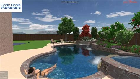Backyard Pools And Spas Tillsonburg Contemporary Tropical Pool Spa Waterfall Modern Grotto