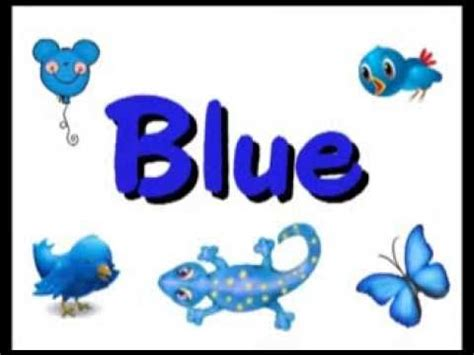 blue color song color b l u e blue song kindergarten
