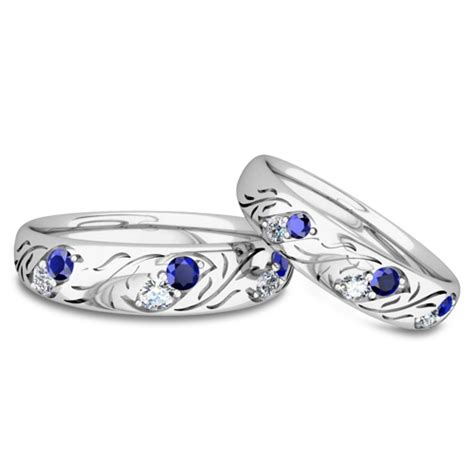 his and hers matching wedding band in platinum