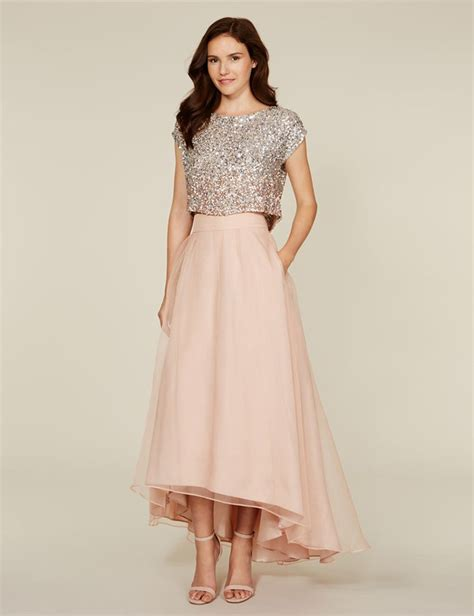 8 Pretty Blush Coloured Clothes by Bling Sequins A Line Dress Blush Pink Two