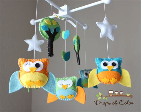 Baby Mobile For Crib Baby Crib Mobile Baby Mobile Owl Mobile Nursery Baby Decor