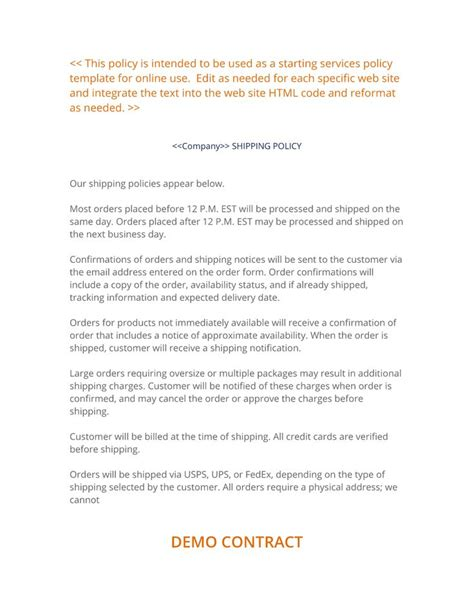 Freight Forwarding Contract Template