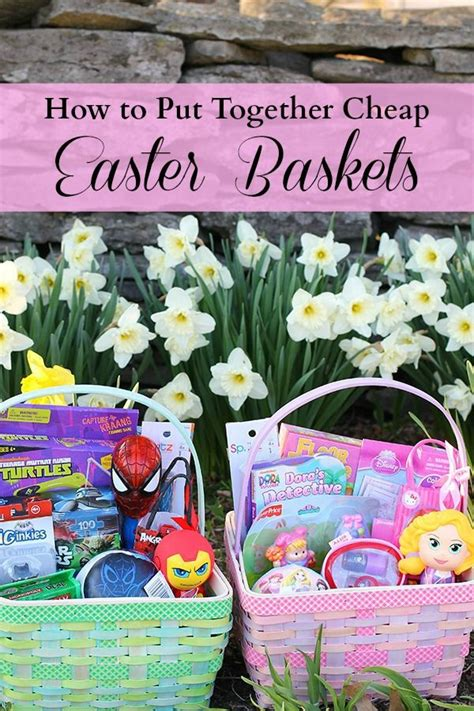 Putting It Together Cheap Chic by How To Put Together Cheap Easter Baskets Easter