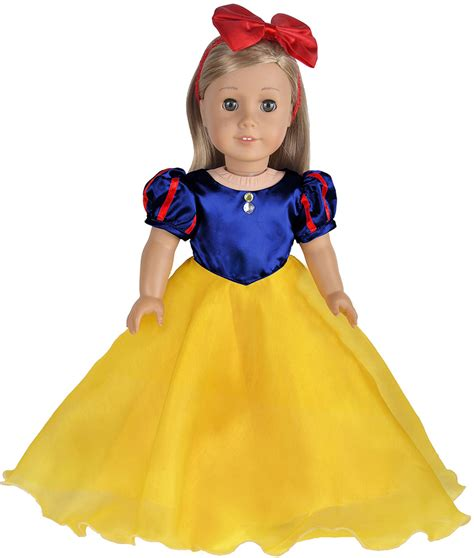 18 02 Romper Snow White Yellow ebuddy costume inspired by snow white doll clothes dress outsuits for 18 inch doll in