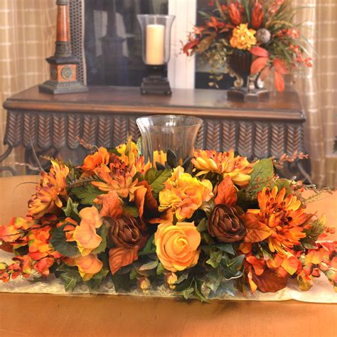 thanksgiving floral centerpiece floral home decor silk