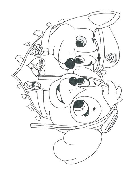 free coloring pages of paw patrol cat chase