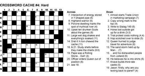 usa today crossword difficulty gc1pbyx crossword cache 4 hard unknown cache in