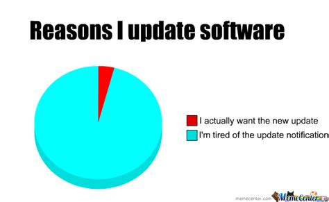 Software Meme - reason i update software by gsn meme center