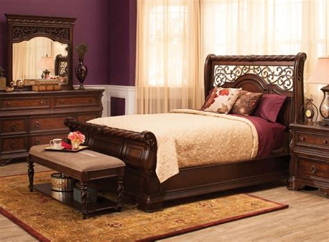 raymour and flanigan bedroom set vienna 4 pc queen bedroom set traditional other metro