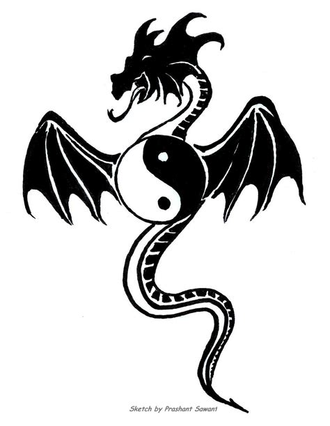 yin yang dragon tattoos these yin yang designs will inspire you to