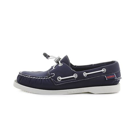 womens sebago dockside navy neoprene comfort boat shoes