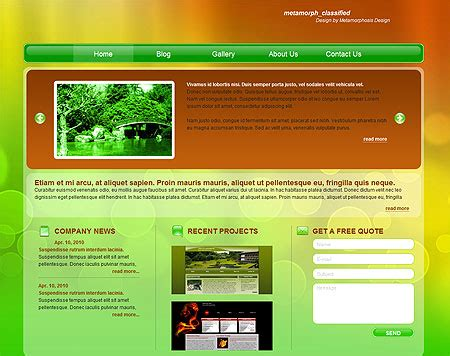 free classified template free website templates free web templates flash