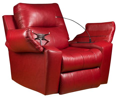 recliner shop furniture cozy red leather starship power wall hugger