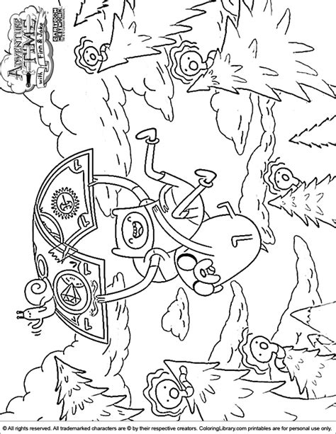 adventure time coloring pages coloring home