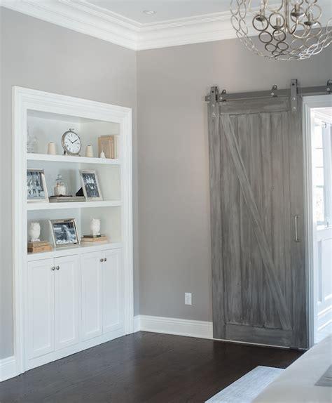 Grey Bedroom Doors Gray Barn Doors Transitional Bedroom Benjamin