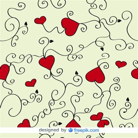 fondo de corazones vintage descargar vectores gratis amor corazones y remolinos de fondo vectoriales