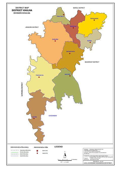 map of khulna city khulna district