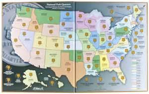 us quarter map books national park quarters map hobby center