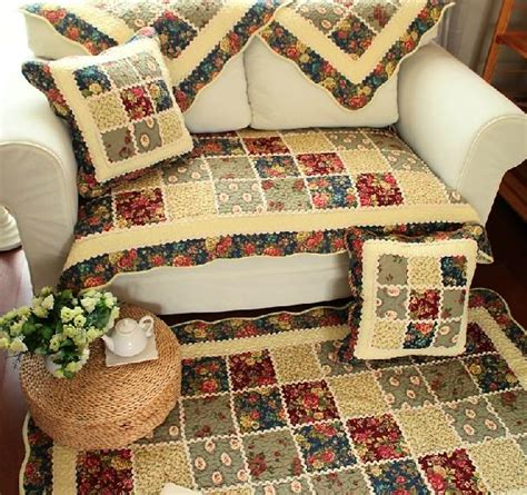 country couch covers country floral cotton quilted couch sofa furniture