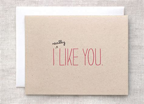 valentines gifts for your secret crush valentines day card i like you card by happydappybits