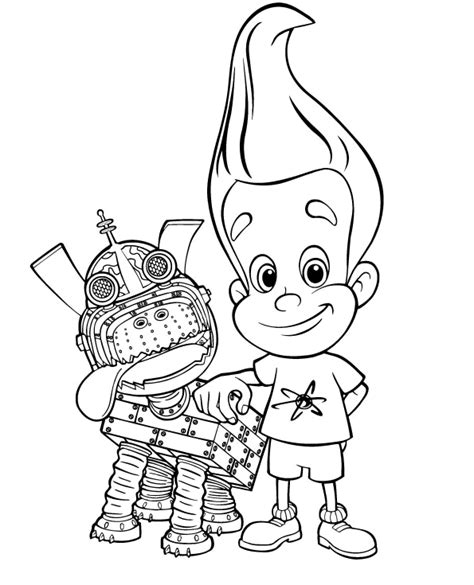 Learn To Coloring November 2008 Jimmy Neutron Coloring Pages