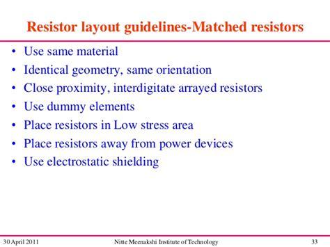 resistor matching analog layout design