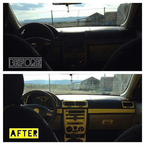 Autofolie Used Look by Chevy Cobalt Yellow Dash Kit Before And After The
