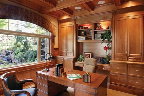 using kitchen cabinets for home office design home office using kitchen cabinets home library