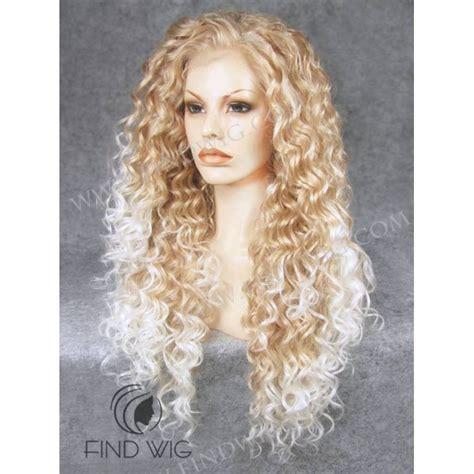 blonde highlighted wigs curly blonde highlighted long wig buy wigs online